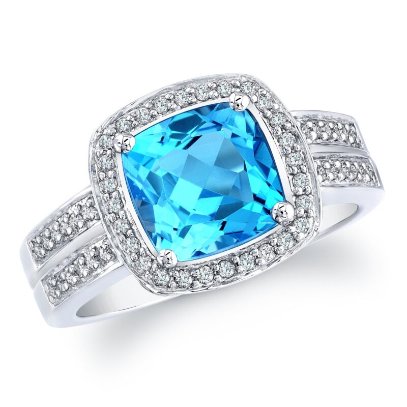 halo ring silver over cut in plated blue p cushion white rings gold topaz sterling