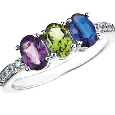 oval gemstone mother's ring