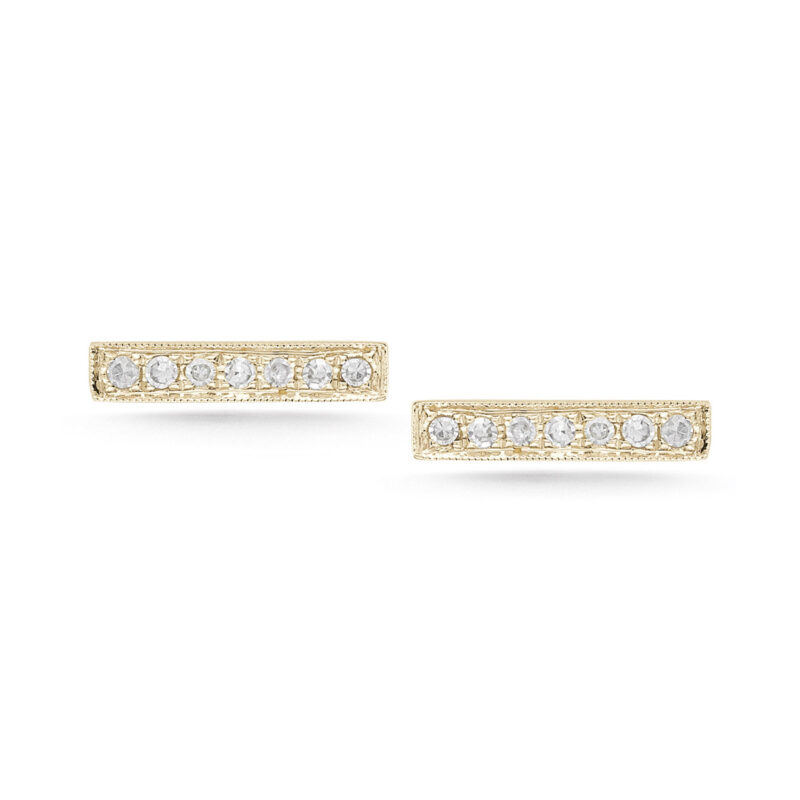 Dana Rebecca Sylvie Rose Diamond Bar Earrings Gittelson